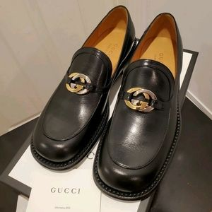 """Cross """"GG"""" Leather Loafers"""